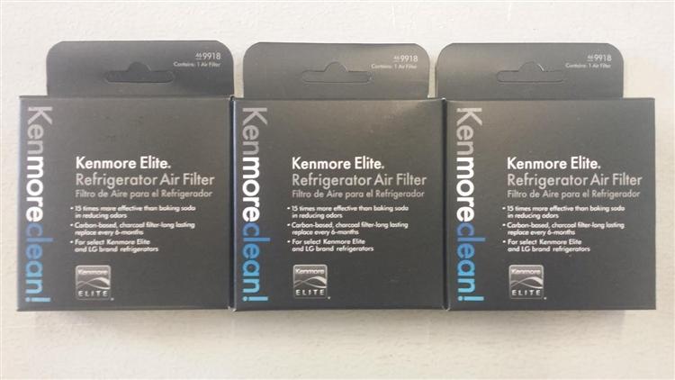 3 Pack 469918 Genuine Kenmore Elite Air Screen Filter